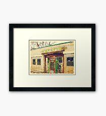 Old Scipio Garage Framed Print