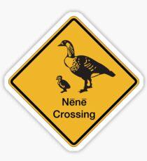 Nene Crossing, Traffic Warning Sign, Hawaii Sticker