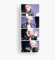 BTS/Bangtan Sonyeondan - V Collage Canvas Print