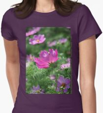 Cosmos Flower 7142 T shirt Womens Fitted T-Shirt