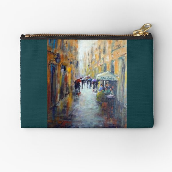 Rainy day in Rome Zipper Pouch