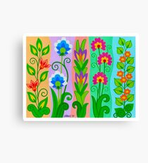 FANTASY FLOWERS 2 OF 10 - GOUACHE Canvas Print