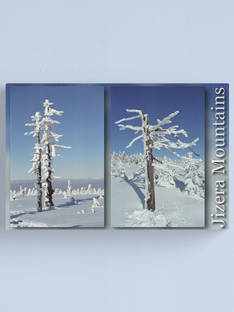 Alternate view of A diamond-dust day at the Smrk mountain (diptych) Canvas Print
