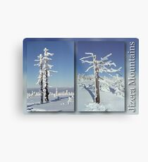 A diamond-dust day at the Smrk mountain (diptych) Metal Print