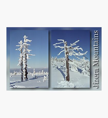 A diamond-dust day at the Smrk mountain (diptych) Photographic Print