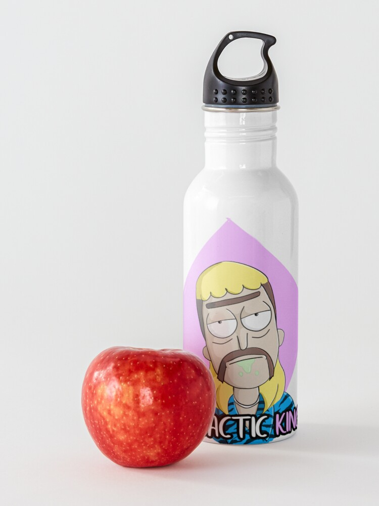 Alternate view of Rick Sanchez becomes Joe Exotic The Tiger King (Rick and Morty) Water Bottle