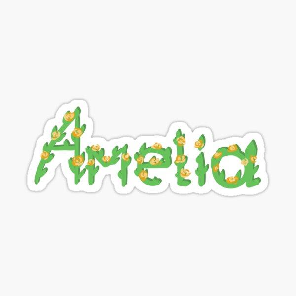 Amelia name sticker  Sticker