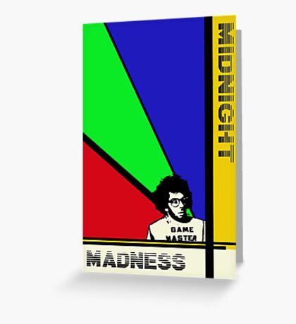 Midnight Madness minimalist movie poster Greeting Card