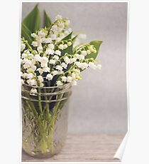 Lily of the Valley in a jar. Poster