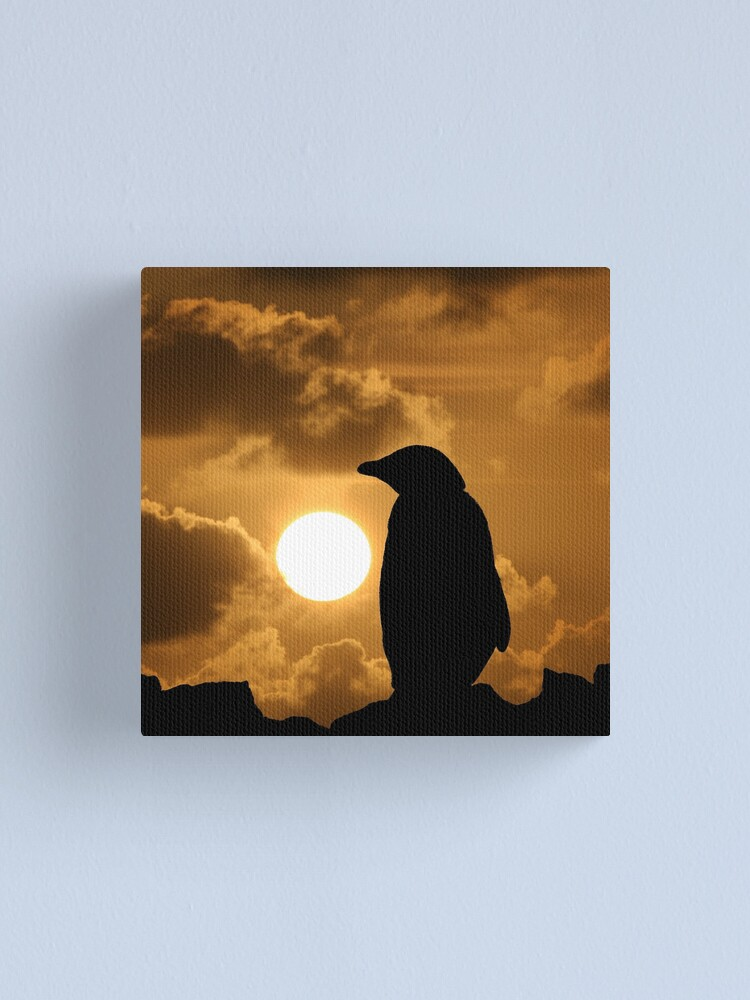 Alternate view of Penguin Silhouette Canvas Print