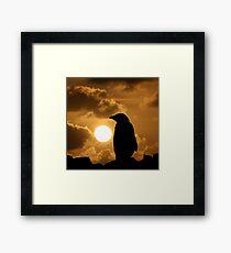 Penguin Silhouette Framed Print