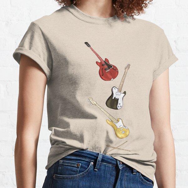 Guitarras dadas Camiseta clásica