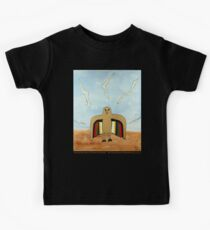 Dancing Robot Bird T Shirt Kids Tee