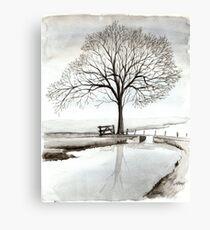 TRANQUIL BEAUTY - AQUAREL  Canvas Print