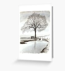 TRANQUIL BEAUTY - AQUAREL  Greeting Card