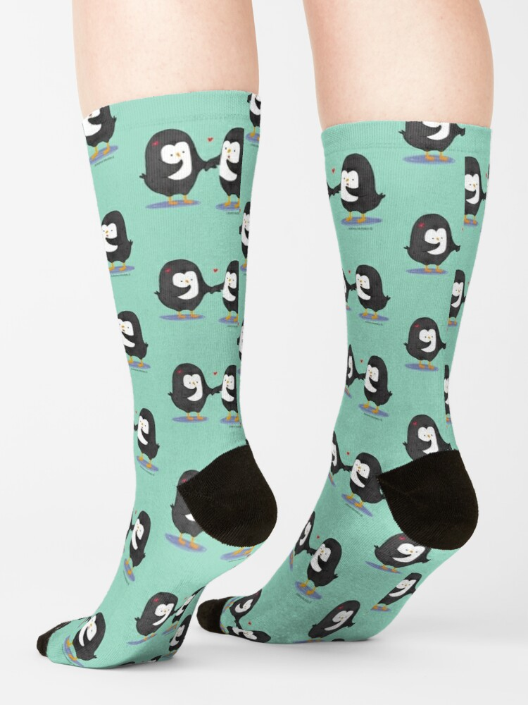 Alternate view of Lovely Penguin Couple Socks