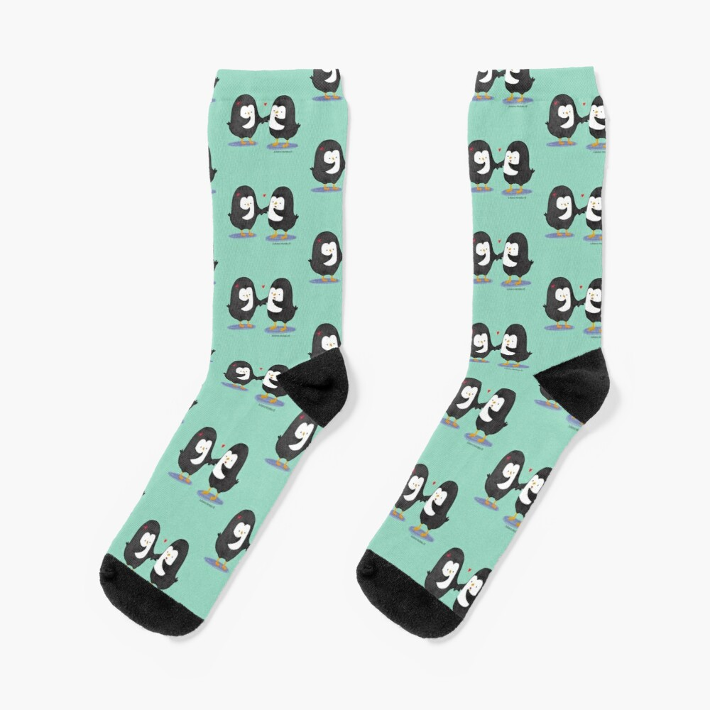 Lovely Penguin Couple Socks