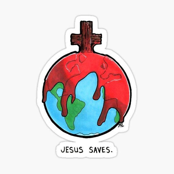 Jesus Saves by Brent Florica Sticker