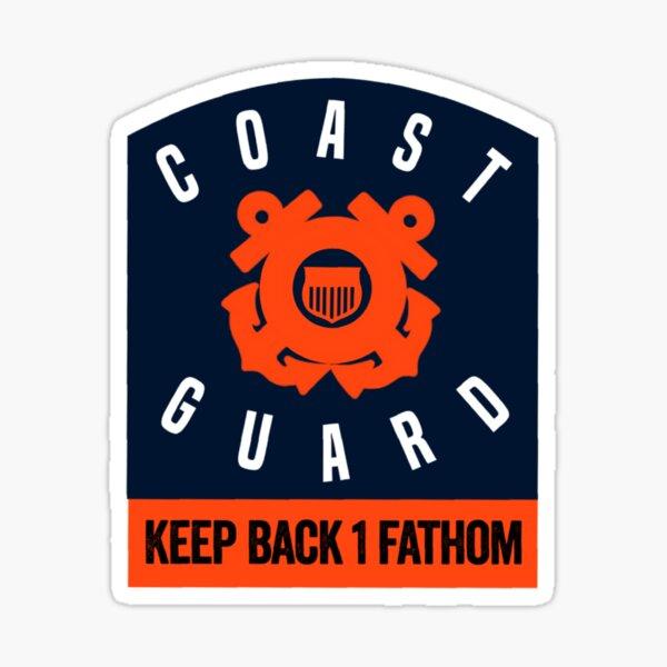 Keep Back 1 Fathom Sticker