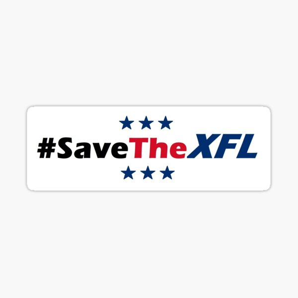 Save The XFL Bumper Sticker Sticker