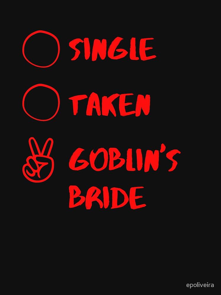 Single Taken Goblin's Bride K-drama by epoliveira