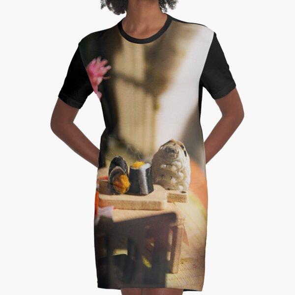 Dinner is ready: Silkworm spy  Graphic T-Shirt Dress