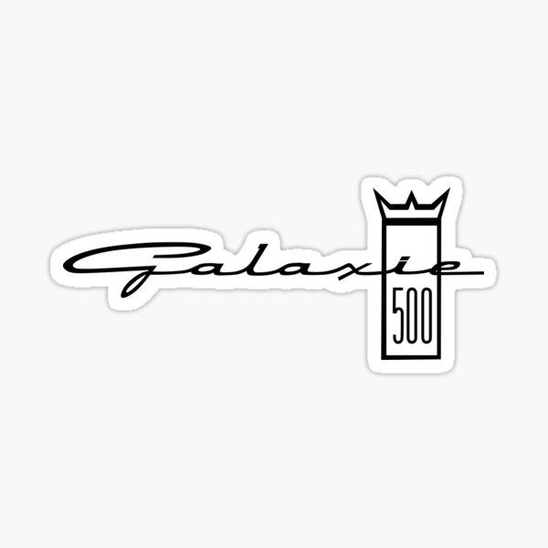 Ford Galaxie 500 Emblem - White Sticker