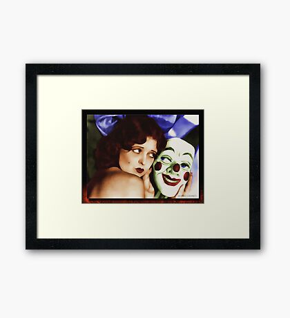 Clara and the Mask Framed Print