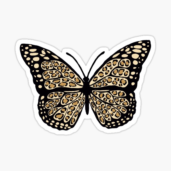 Cheetah Print Butterfly Sticker