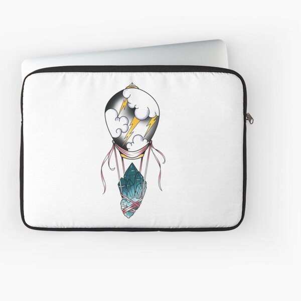 Stormy Balloon with Crystals  Laptop Sleeve
