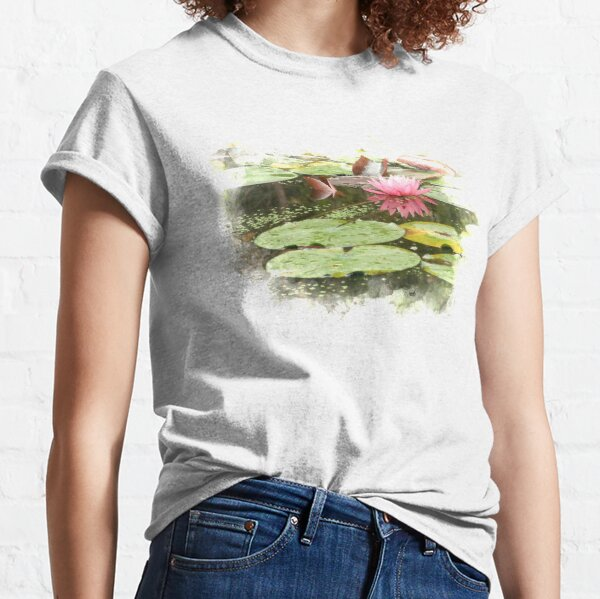Pink Lily Pad Flower Photo Classic T-Shirt