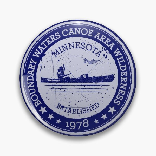 Minnesota Boundary Waters Vintage Style Stamp - White Pin