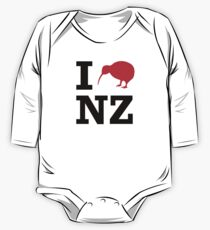 I Love New Zealand (Kiwi) Kids Clothes