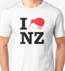 I Love New Zealand (Kiwi) Unisex T-Shirt