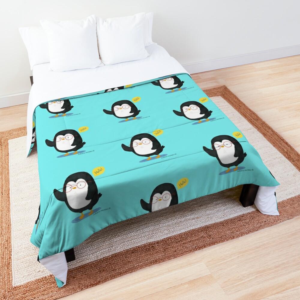 Albert Penguin wants to say Hello ! Comforter