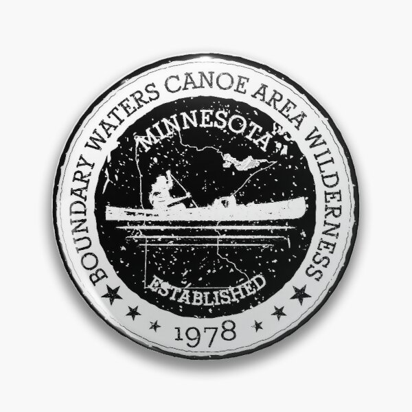 Minnesota Boundary Waters Vintage Style Stamp - Black Pin
