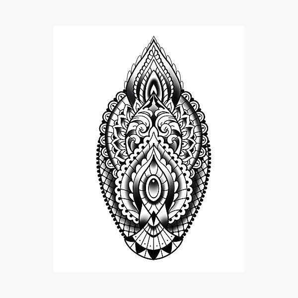 Henna inspired Crest  Photographic Print