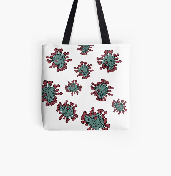 Coronavirus Pattern All Over Print Tote Bag
