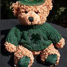 Teddy celebrating St. Patrick's Day by Bev Pascoe