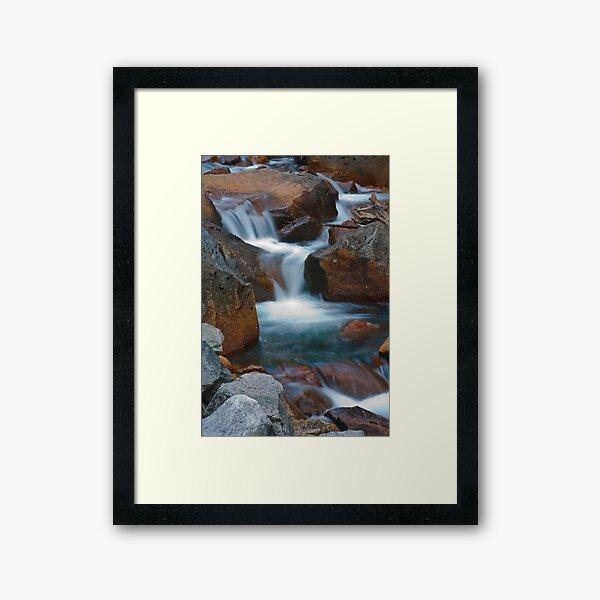 Silky Spill From Below Mirror Lake Framed Art Print