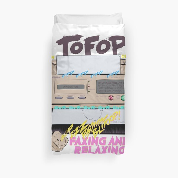 TOFOP - Faxing and Relaxing Duvet Cover