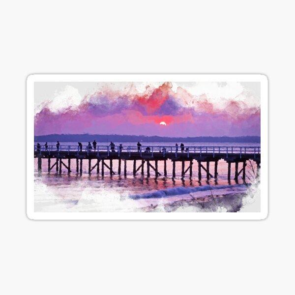 Hervey Bay Sunrise Art Sticker