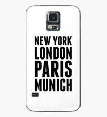 New York, London, Paris, Munich - [Black] Case/Skin for Samsung Galaxy