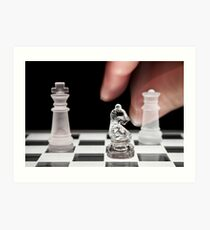 Chess 101: The knight moves to put the king in check Art Print