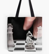 Chess 101: The knight moves to put the king in check Tote Bag