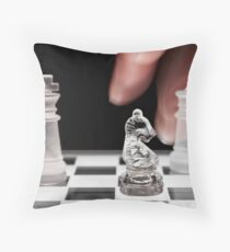 Chess 101: The knight moves to put the king in check Throw Pillow