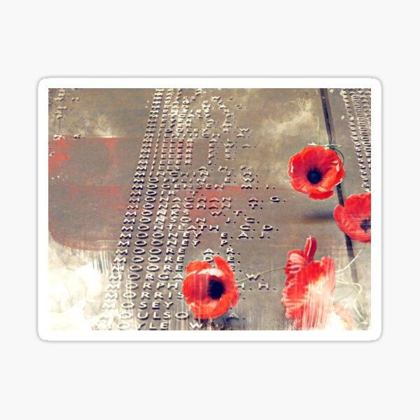 ANZAC Day Memorial Art Sticker