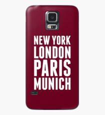 New York, London, Paris, Munich - [White] Case/Skin for Samsung Galaxy