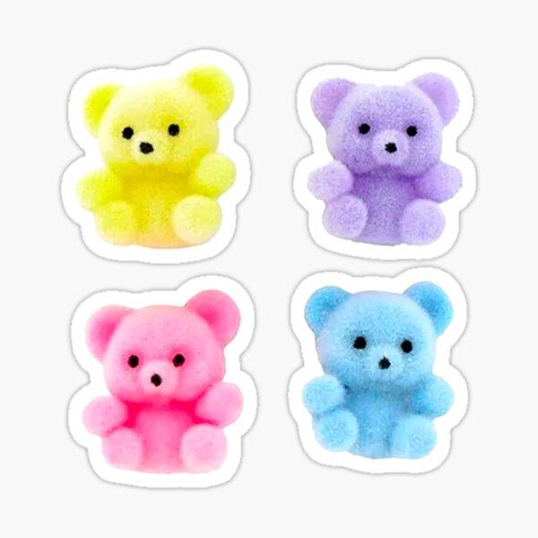 y2k flocked bears Sticker
