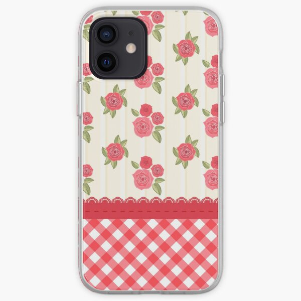 Beautiful Red Rose Shabby Wallpaper iPhone Soft Case